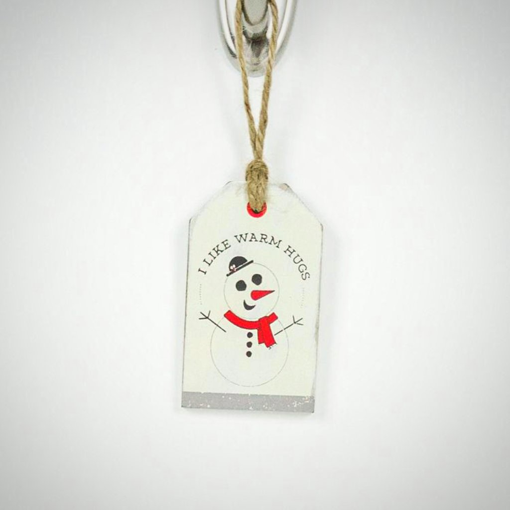 """I Like Warm Hugs"" Tag/Ornament"