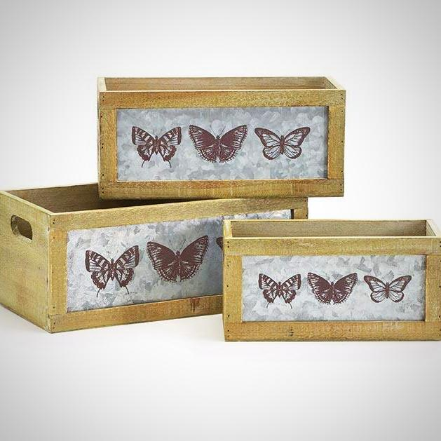 Nesting Butterfly Flower Box/Planter - 3 Sizes