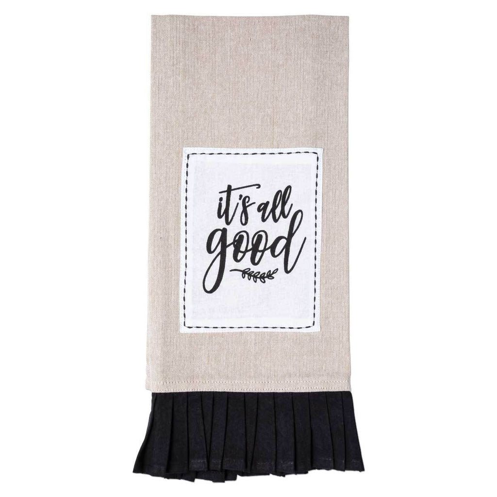 IT'S ALL GOOD Pleated Tea Towel