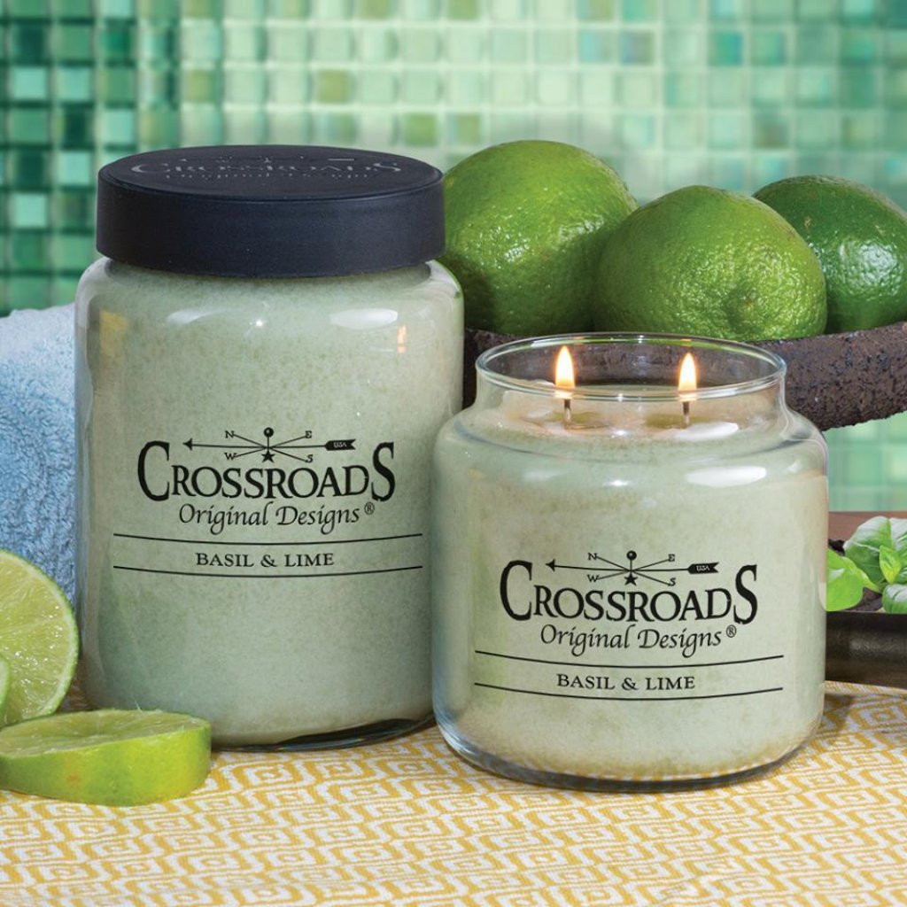 Basil & Lime Crossroads Original Jar Candle - 5 sizes
