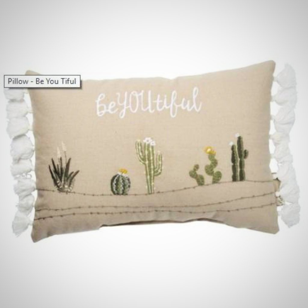 Be YOU tiful Tassled Pillow