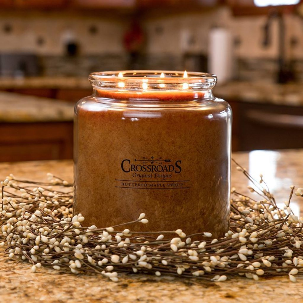 Buttered Maple Syrup Crossroads Original Jar Candle - 5 sizes