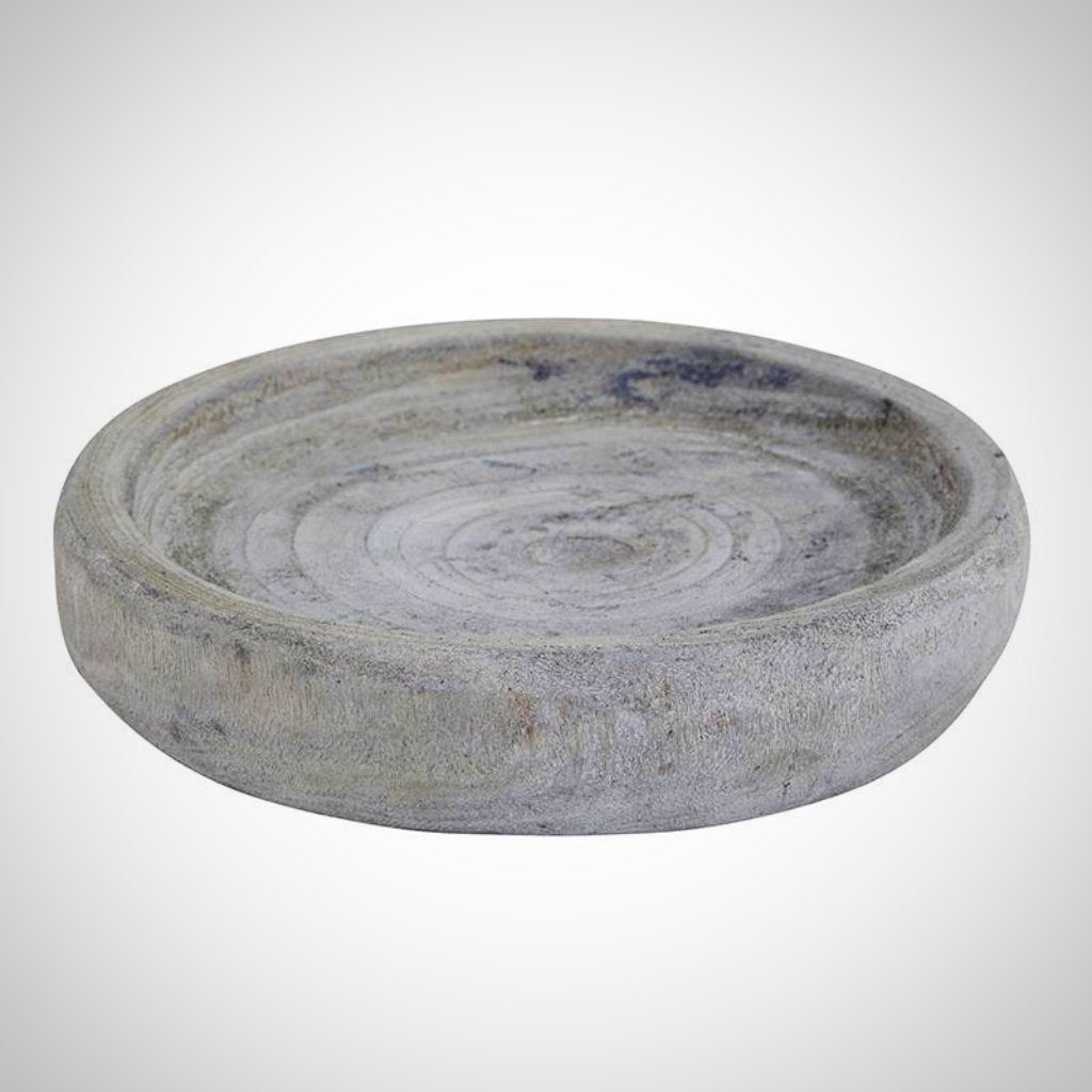 Gray Paulownia Wood Bowl - 6.5""