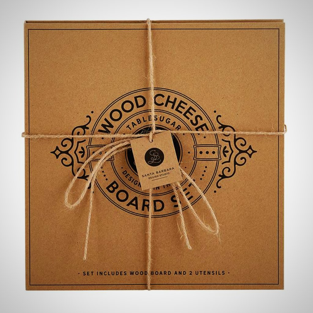 Wood Cheese Board Cardboard Book Set