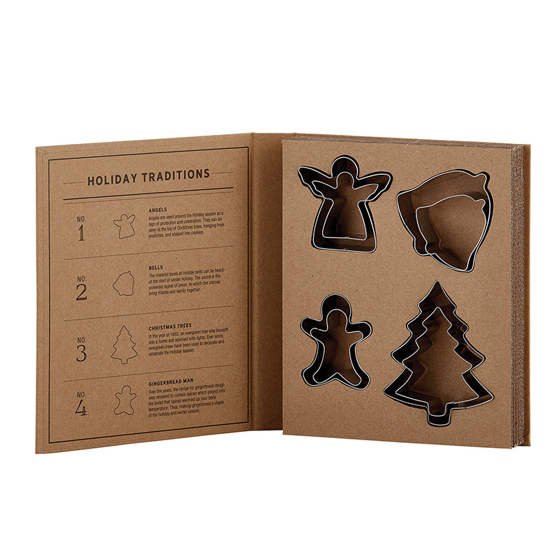 Holiday Cookie Cutter Cardboard Book Set