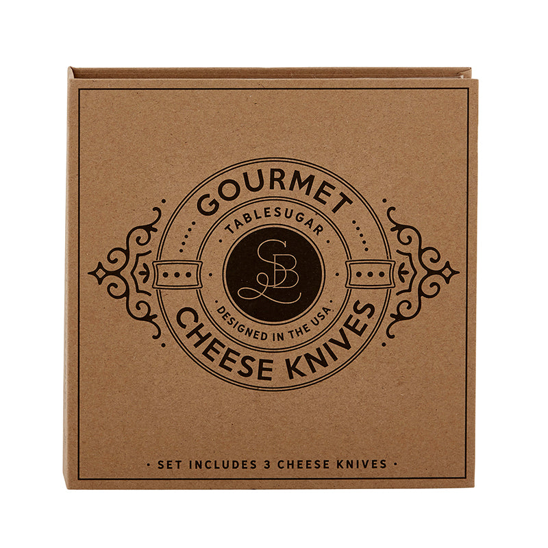 Gourmet Cheese Knife Cardboard Book Set