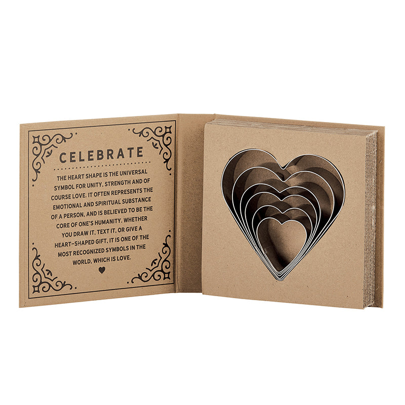 Heart Cookie Cutter Cardboard Book Set