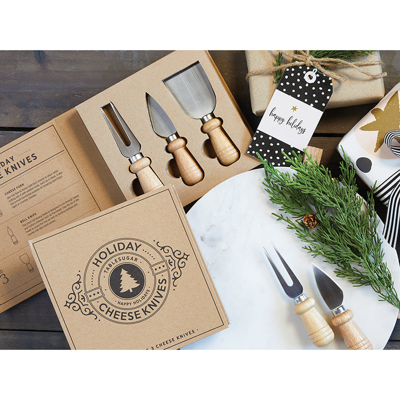 Holiday Cheese Knife Cardboard Book Set