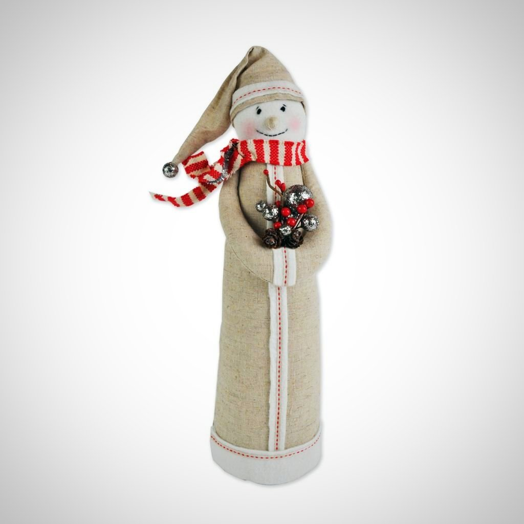 "Poetic Threads Fabric Snowman - 16.5"" Tall"