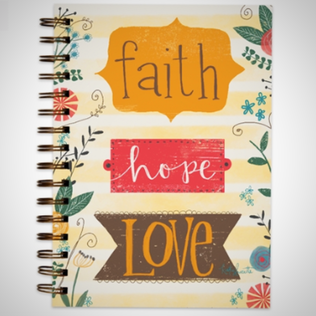 "Wire Bound Journal - ""Faith Hope Love"""