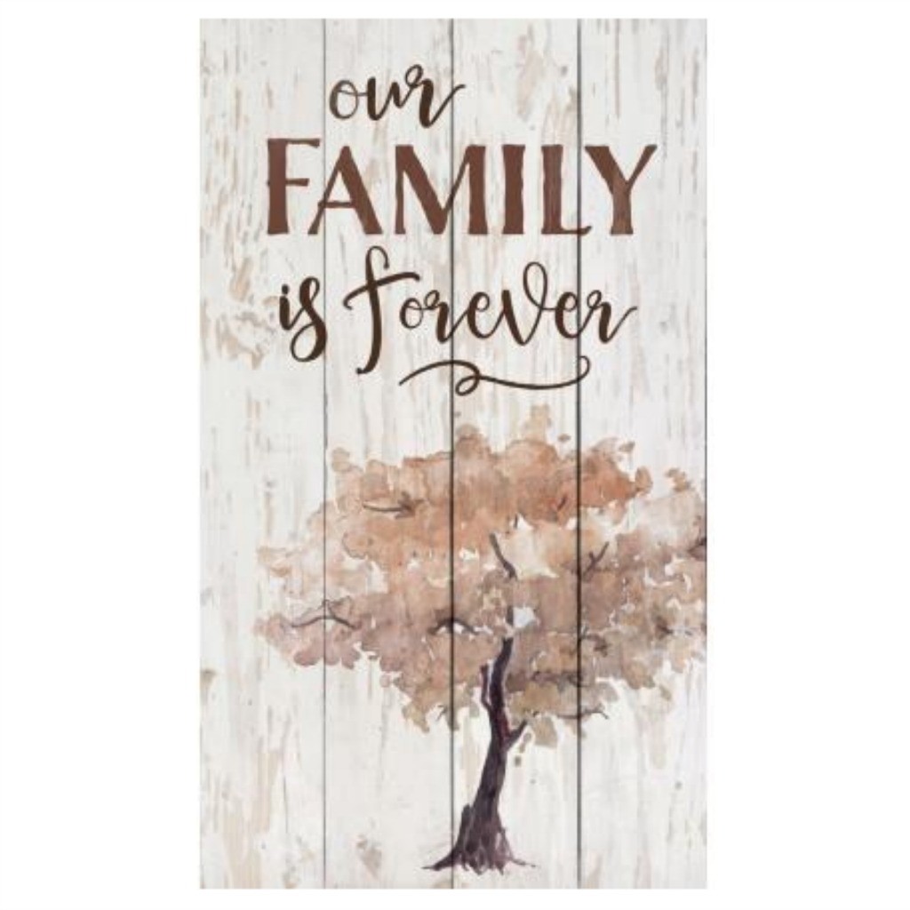 "Our Family Is Forever - 14"" x 24"" Pallet Decor"