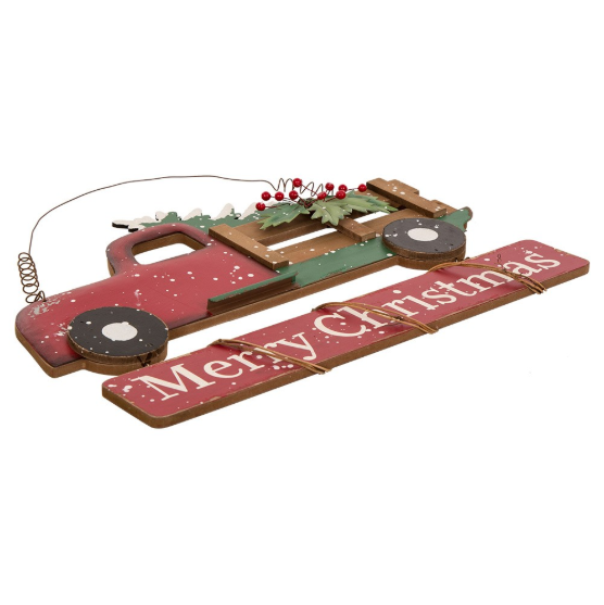 Red Farm Truck - Merry Christmas
