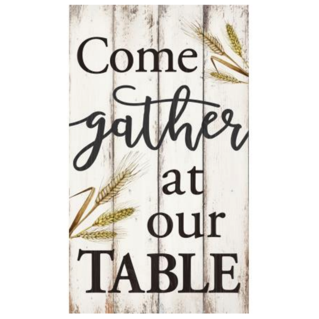 "Come Gather At Our Table - 14"" x 24"" Pallet Decor"
