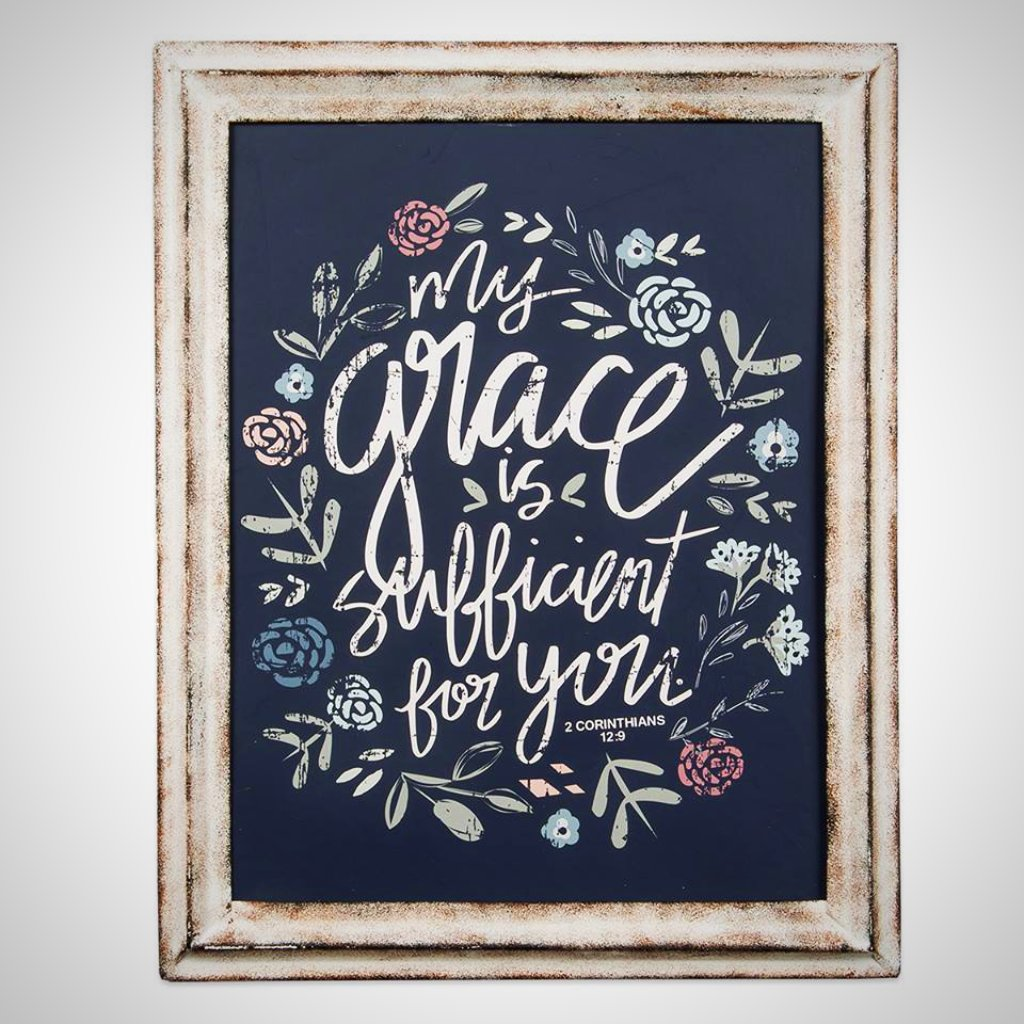 """My Grace Is Sufficient For You"" - Metal Framed Print"