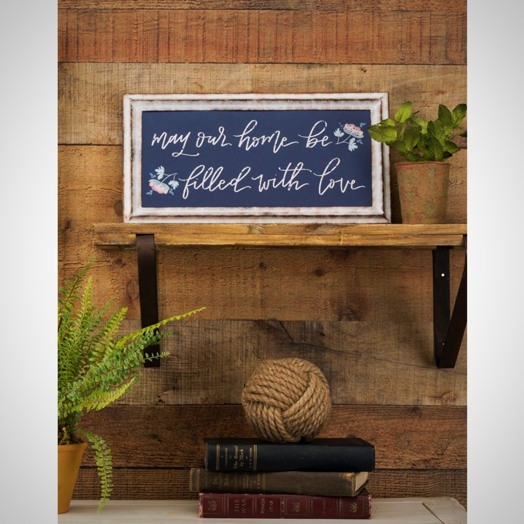 """may our home be filled with love"" - Metal Framed Print"