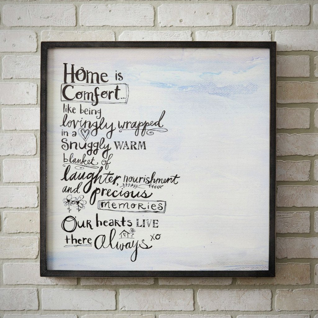 HOME IS COMFORT Wall Art - 24""