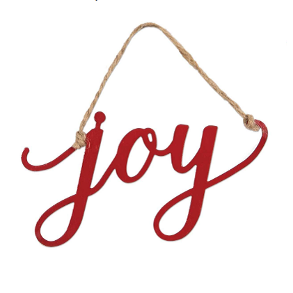 Metal Word Charm Ornament (6 Styles)