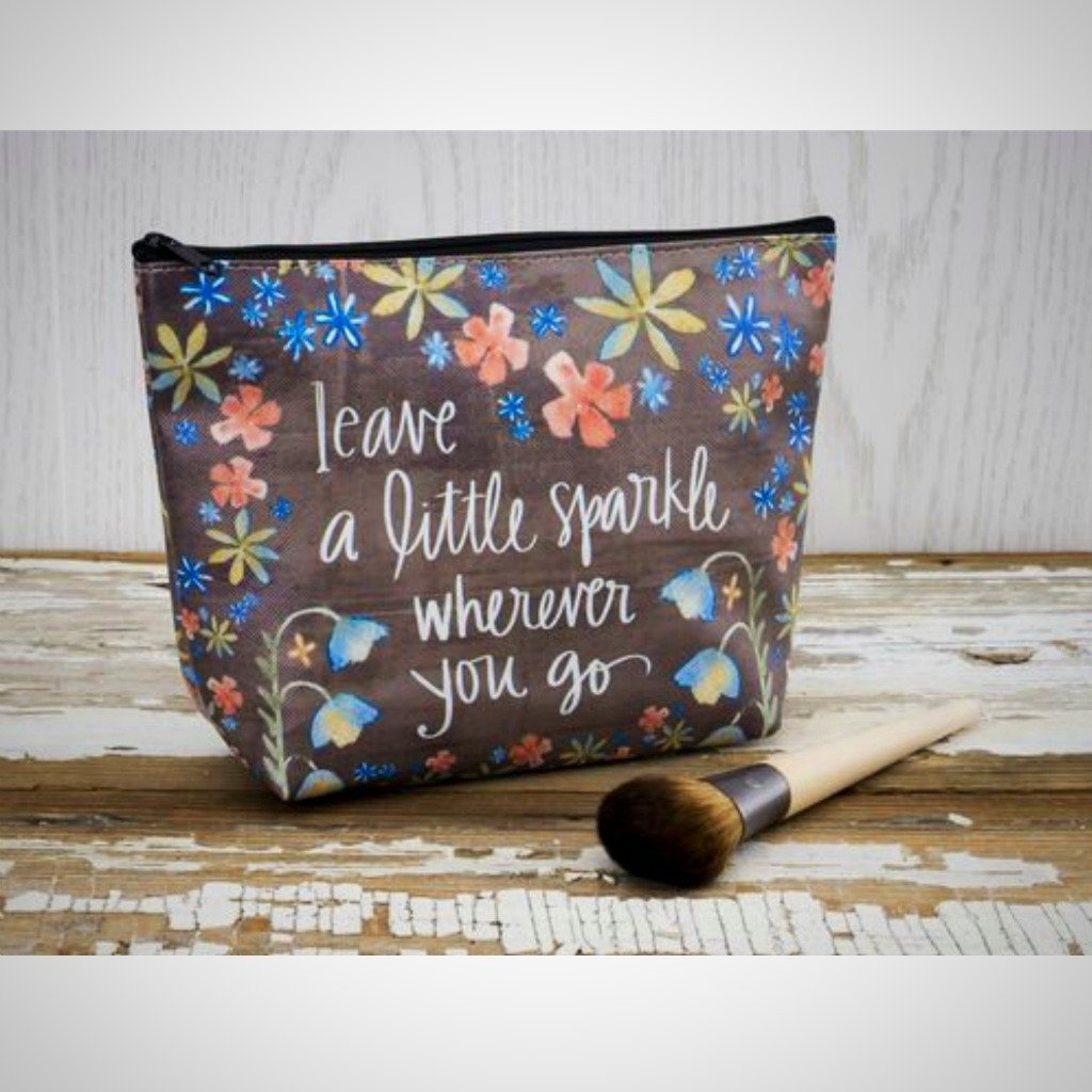 "Cosmetic Bag - ""Leave A Little Sparkle Wherever You Go"""