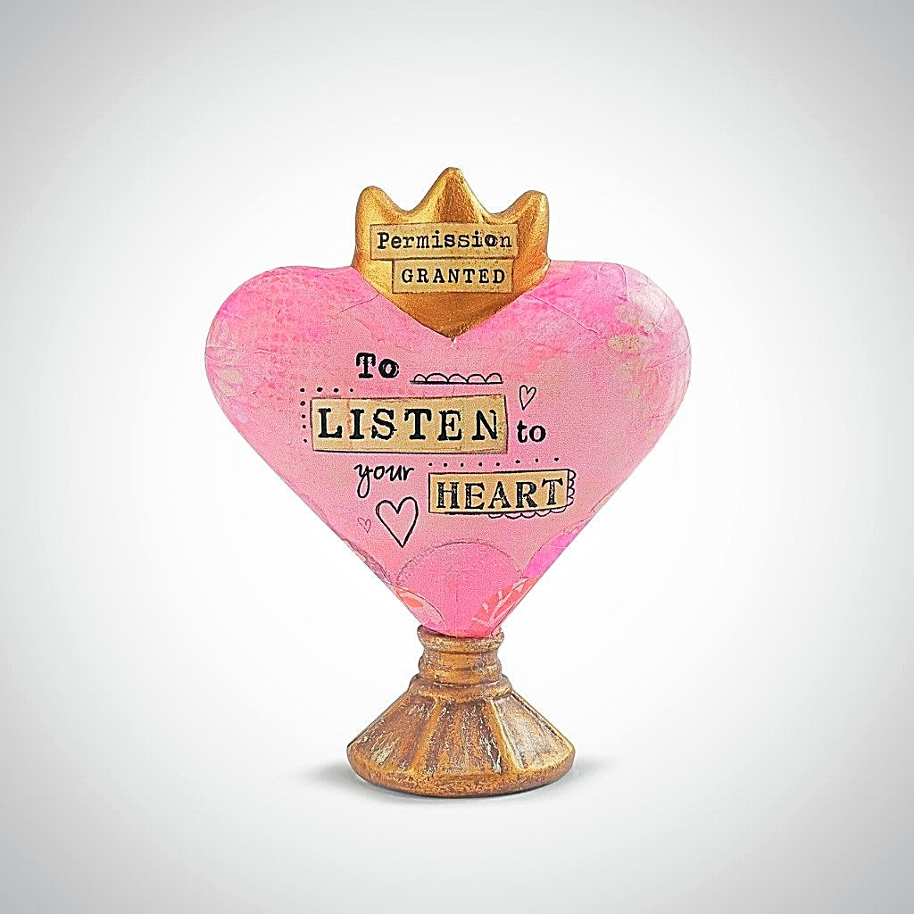 Permission Granted TO LISTEN TO YOUR HEART Sculpture