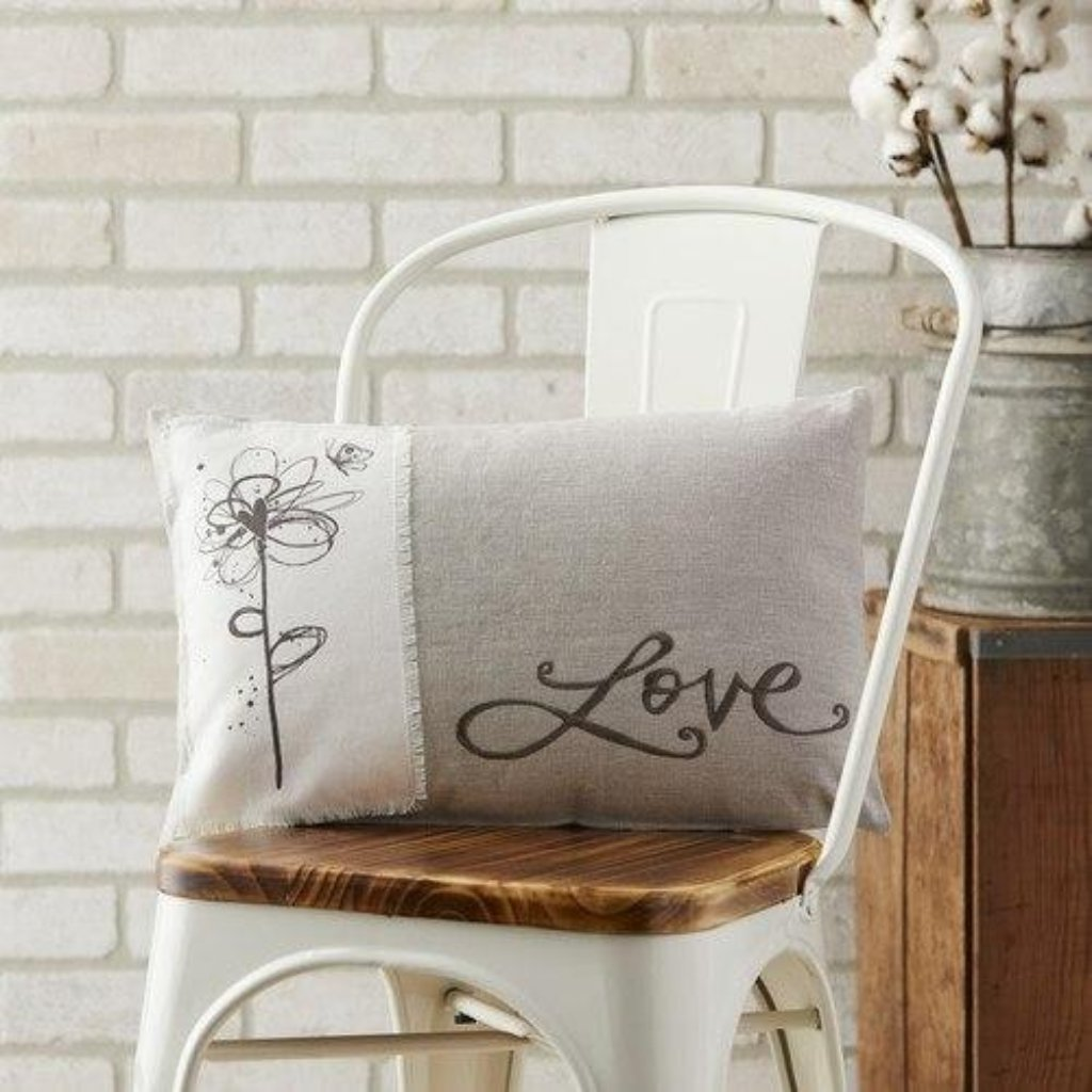 "Love Throw Pillow - 18"" x 11"""