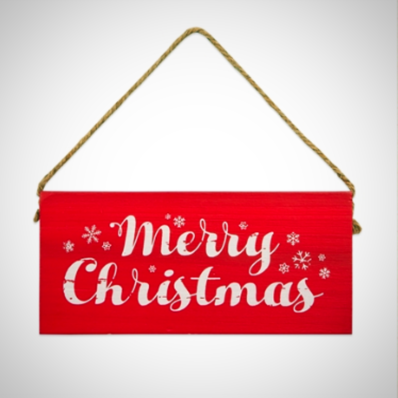 """Merry Christmas"" Wooden Block Sign"