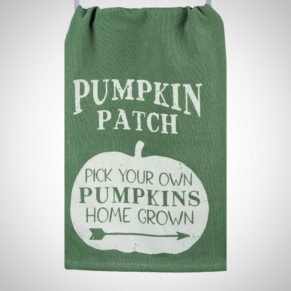 """Pumpkin Patch..."" Tea Towel - 28"" x 28"""