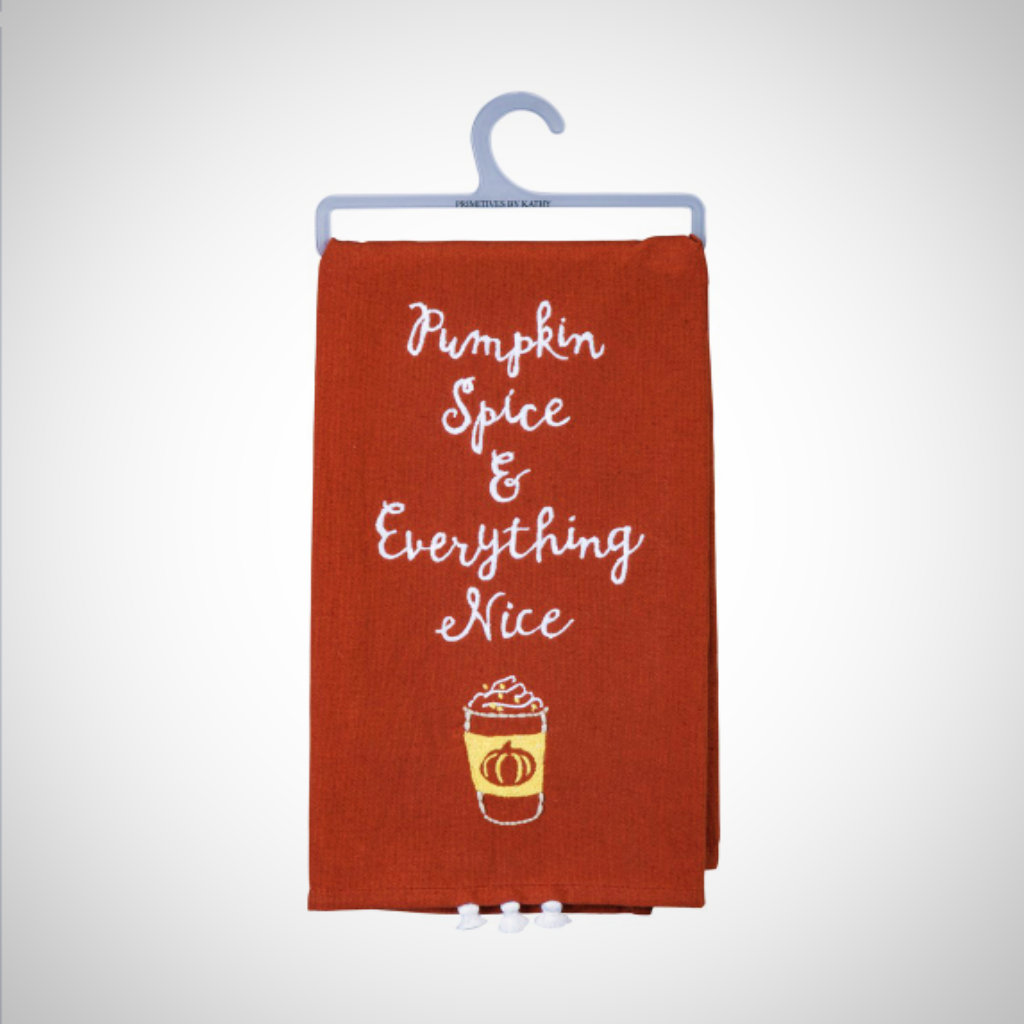 """Pumpkin Spice Tea Towel"" Tea Towel - 20"" x 26"""
