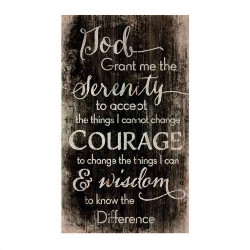 "Serenity Prayer - 14"" x 24"" Pallet Decor"