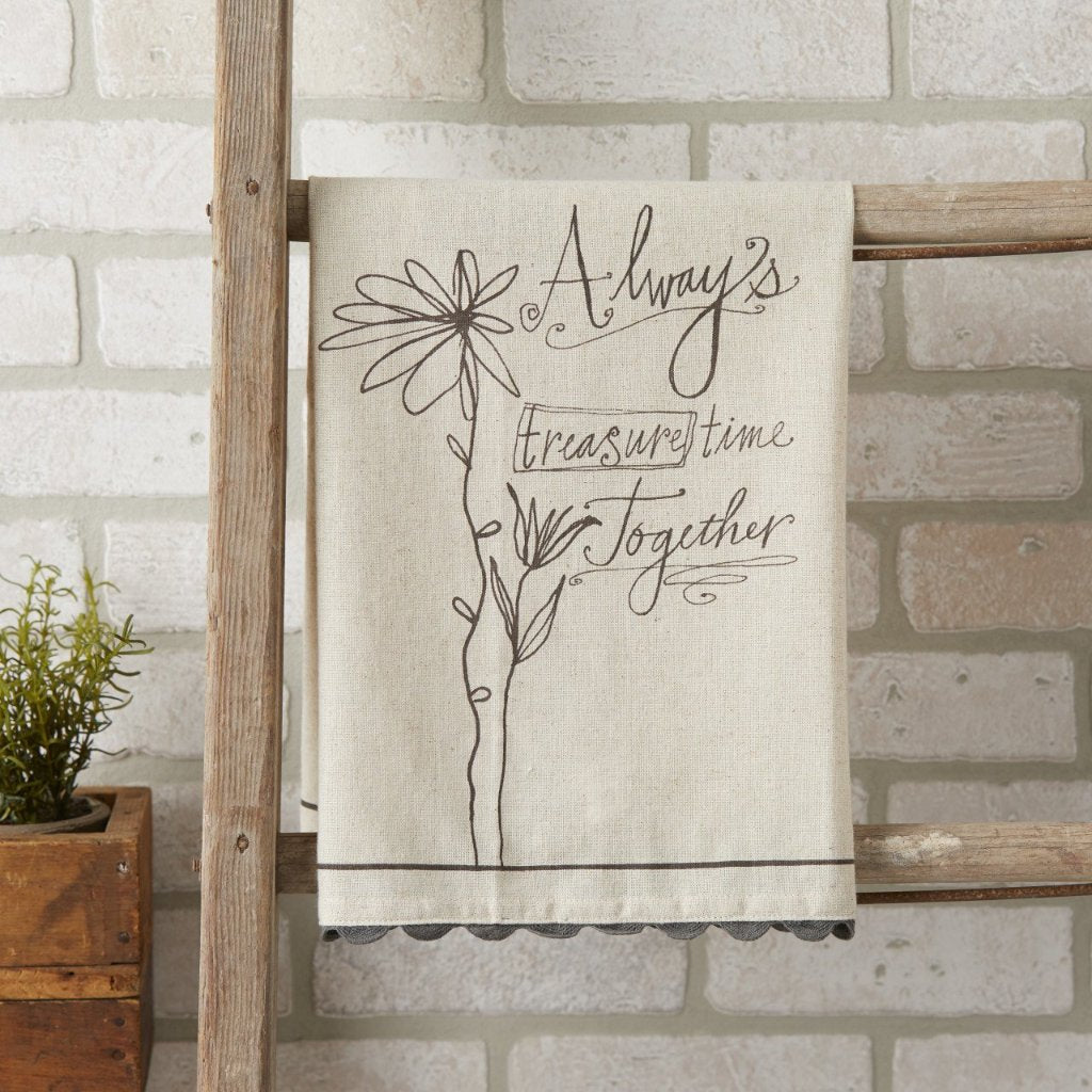 TIME TOGETHER Linen Tea Towel