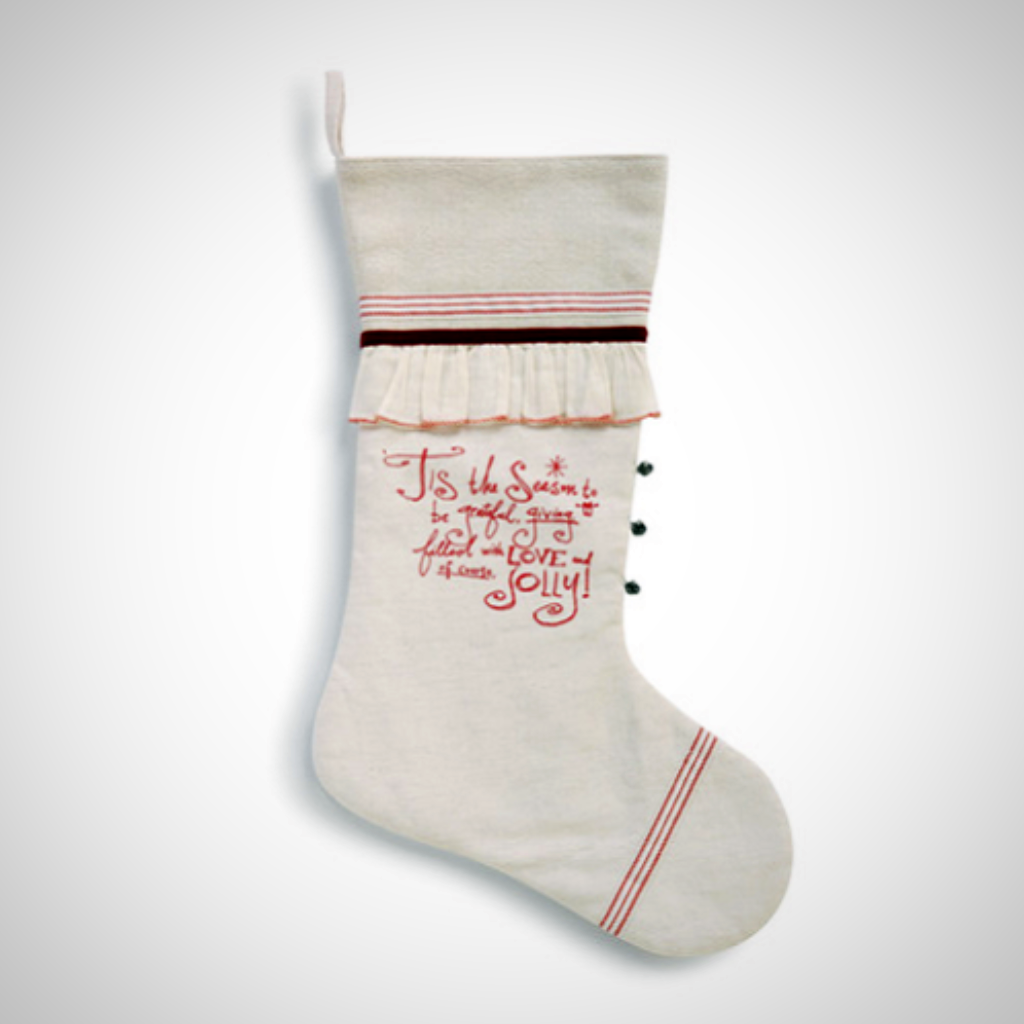 Poetic Threads Stocking - 'Tis The Season Stocking