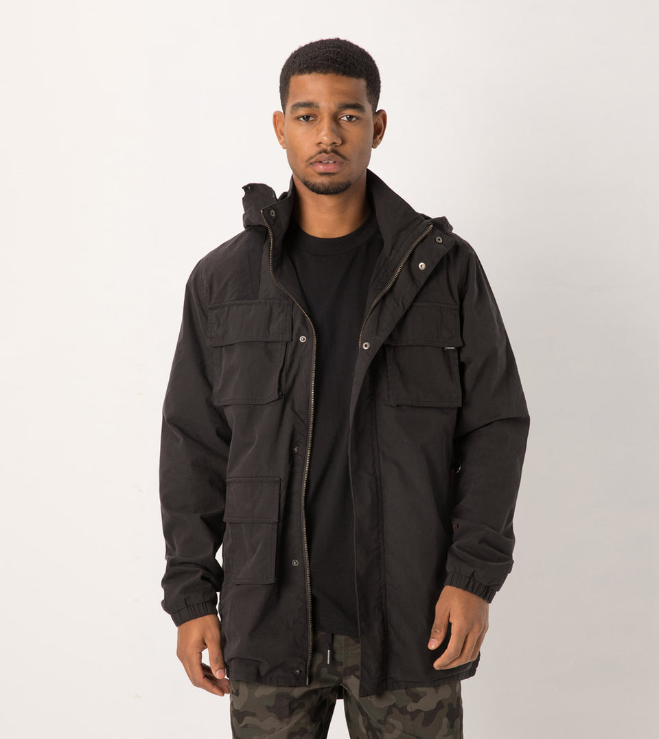 Utility Jacket Washed Black