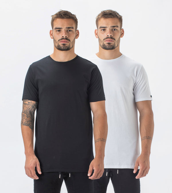 2 Pack Flintlock Tee Black/White