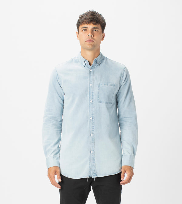 7 Foot Work Denim LS Shirt Original Blue