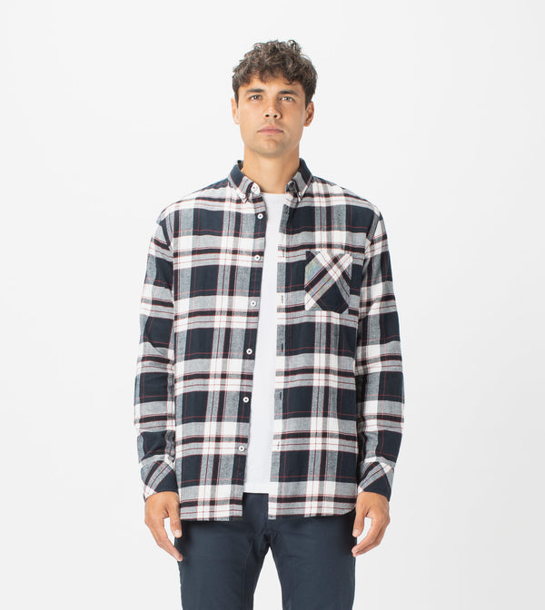 7 Foot Work Flannel LS Shirt Ink