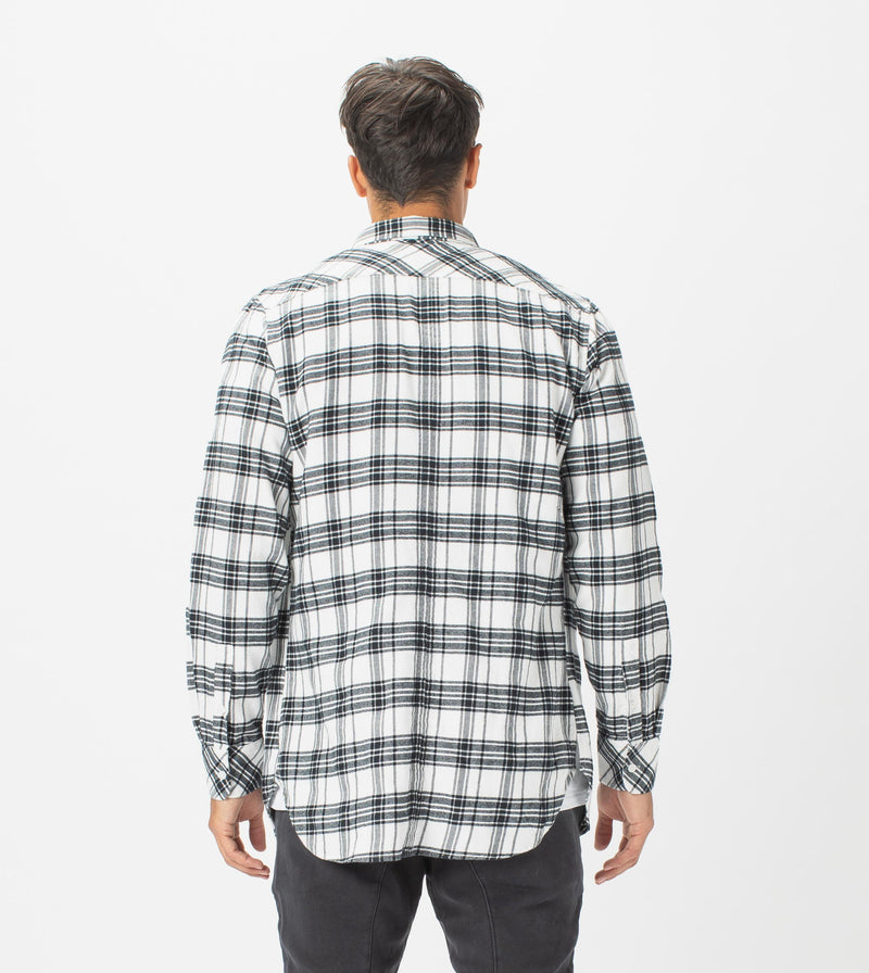 7 Foot Work Flannel LS Shirt Milk/Black