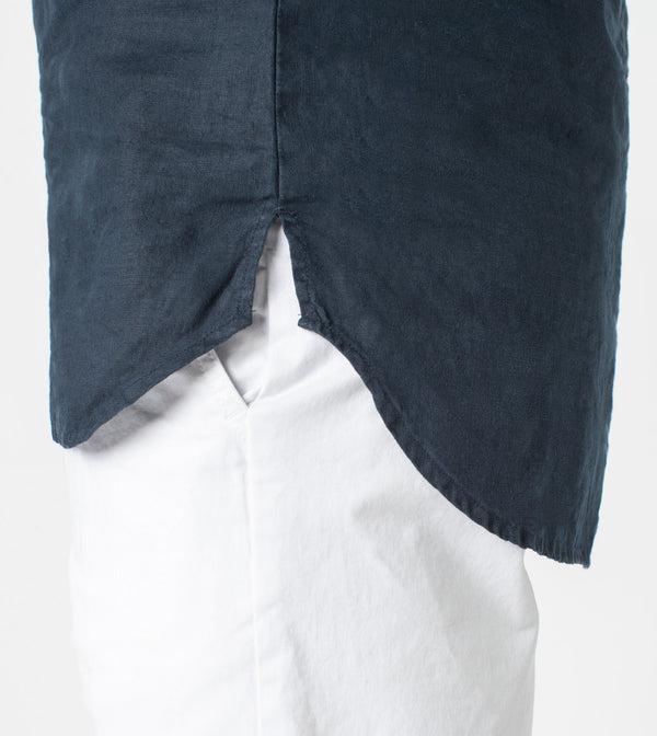 7 Foot LS Linen Shirt Navy