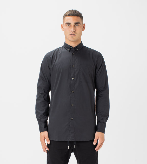 7 Foot LS Oxford Shirt Black