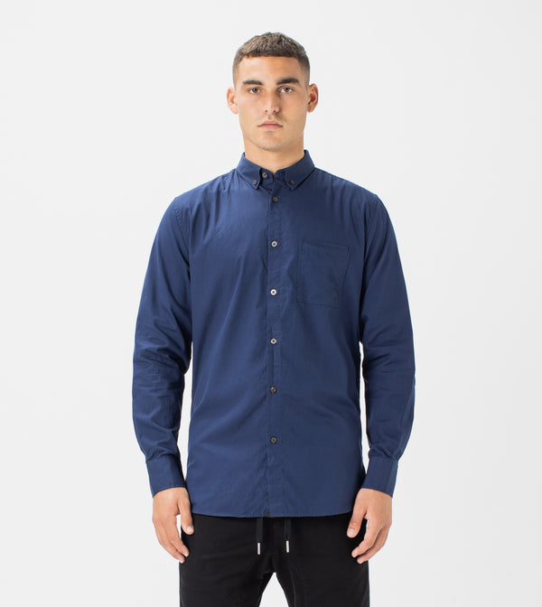 7 Foot LS Oxford Shirt Navy