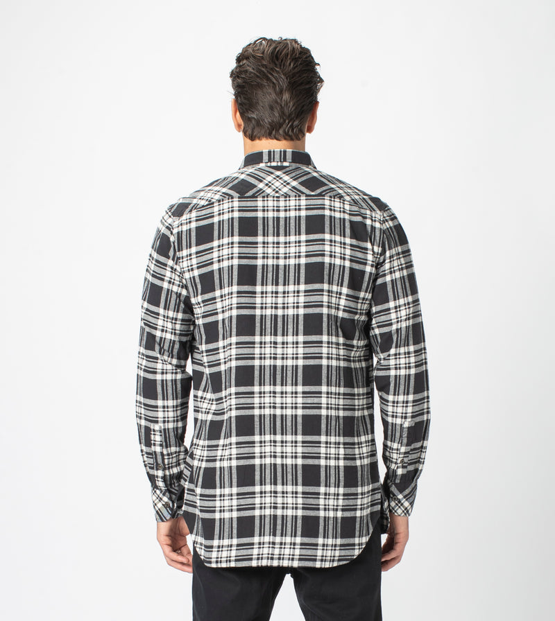 7 Foot Work Flannel LS Shirt Black/Milk