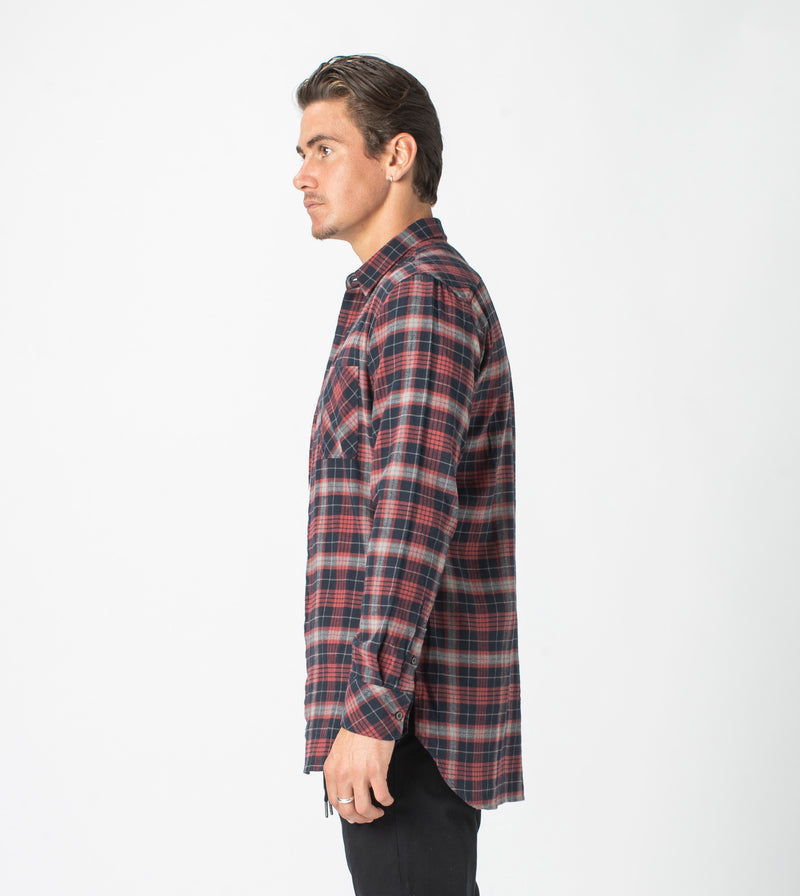 7 Foot Work Flannel LS Shirt Vintage Red