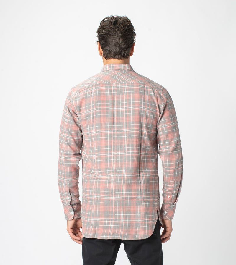 7 Foot Work Flannel LS Shirt Washed Peach