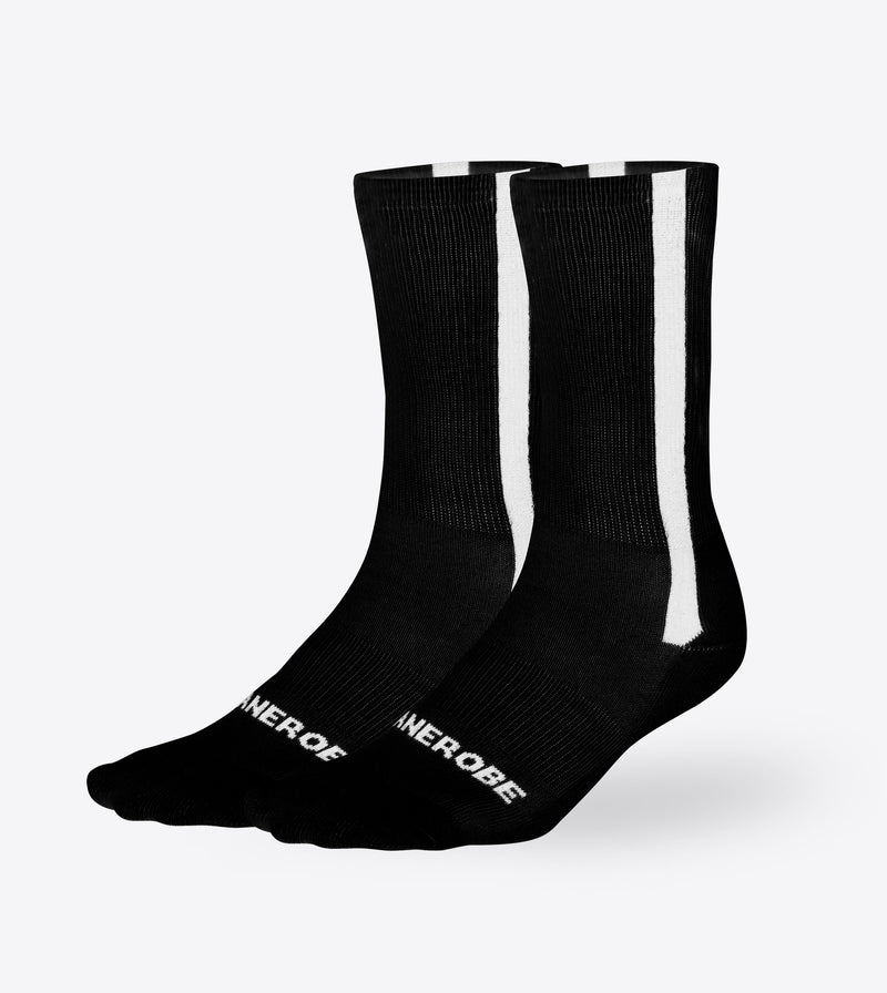 Stripe High Sock Black (2 Pack)