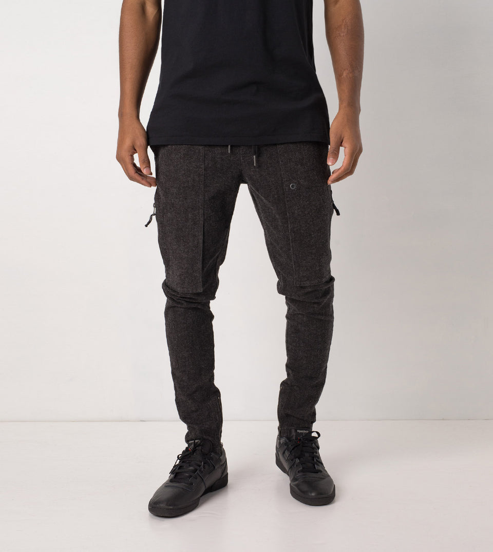 Blockshot Chino Charcoal Marle - Sale
