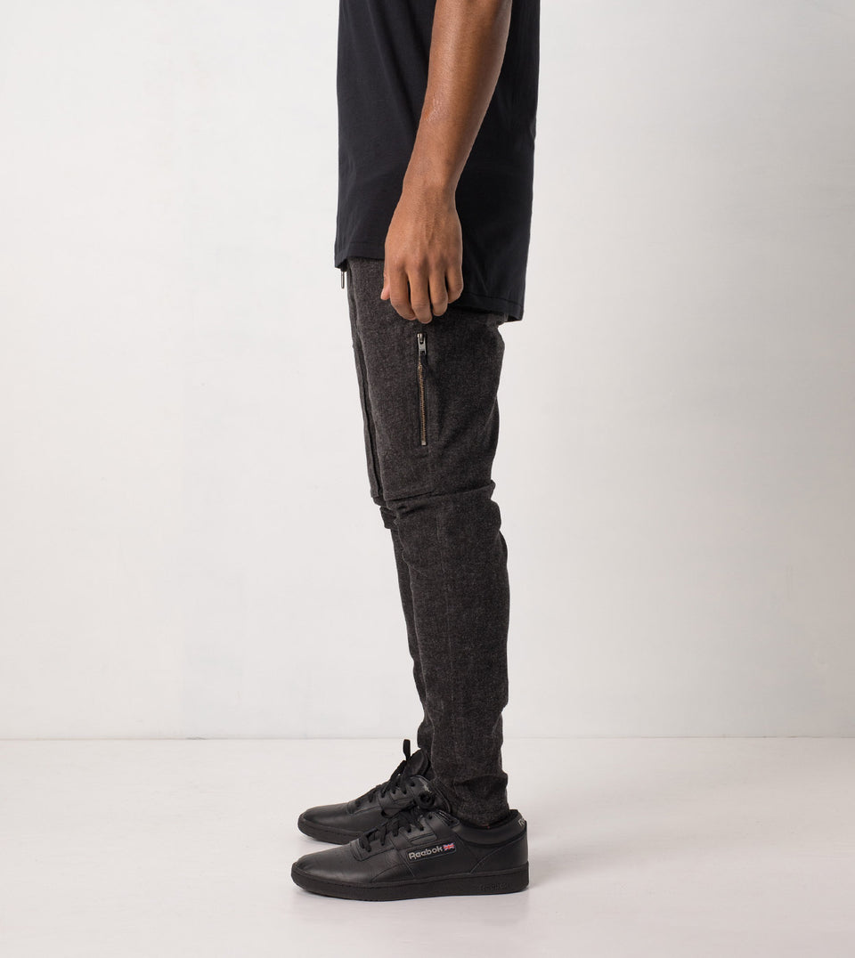 Blockshot Chino Charcoal Marle