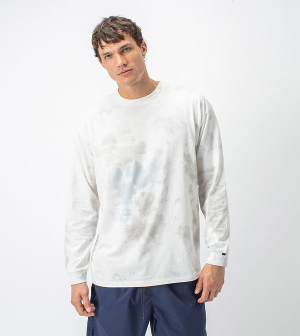 Slub Box LS Tee Milk/Cement