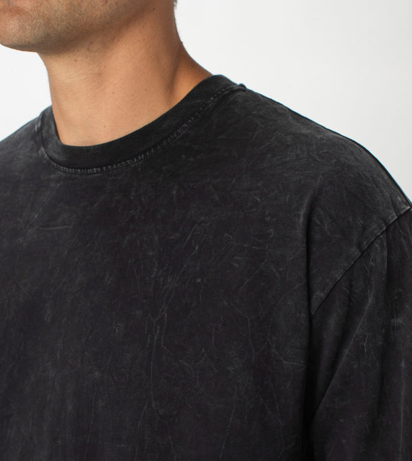 Box LS Tee Salt Black