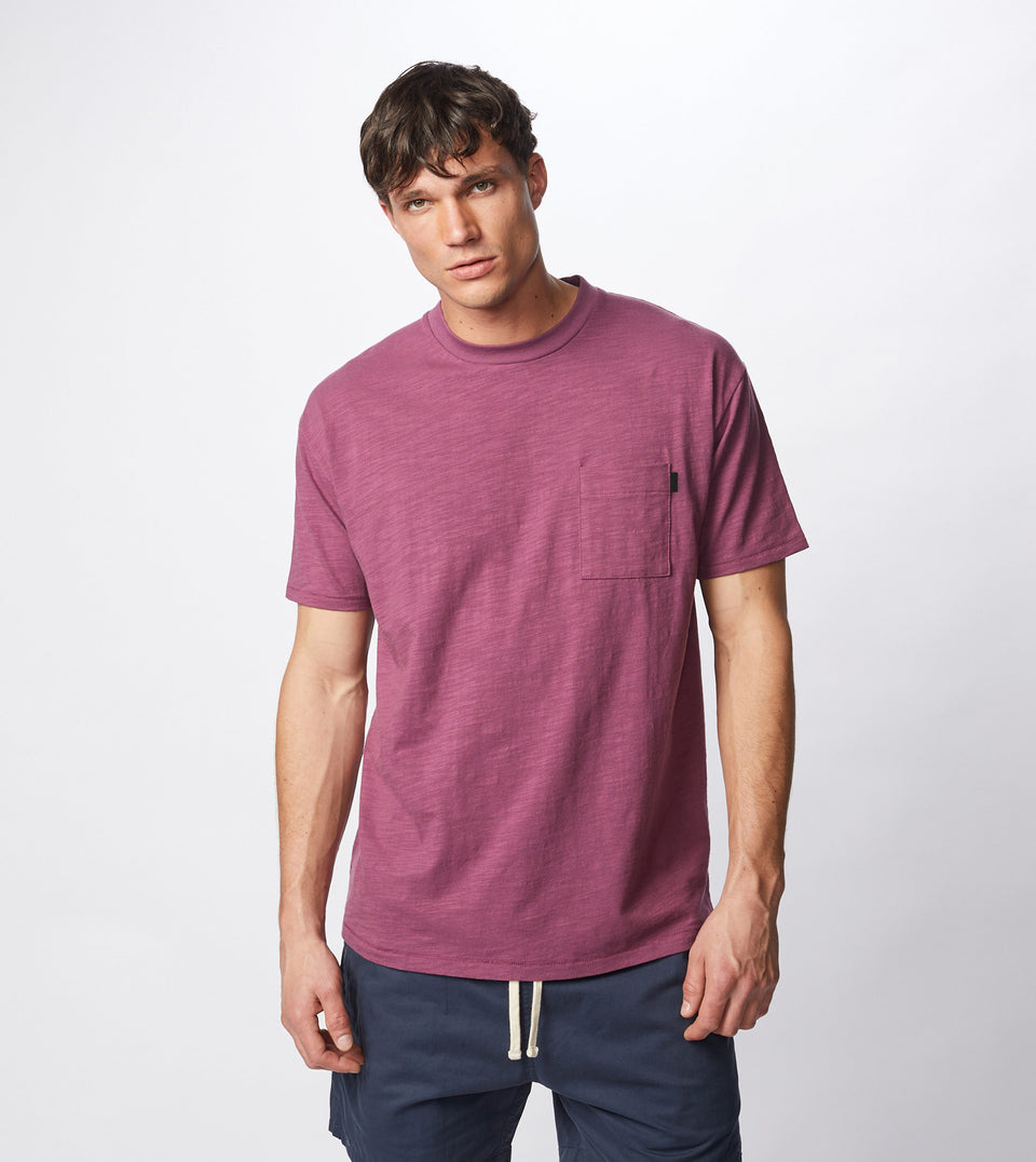 Slub Box Pocket Tee Acai