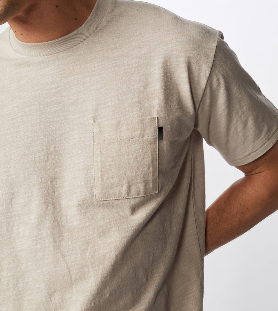 Slub Box Pocket Tee Bread