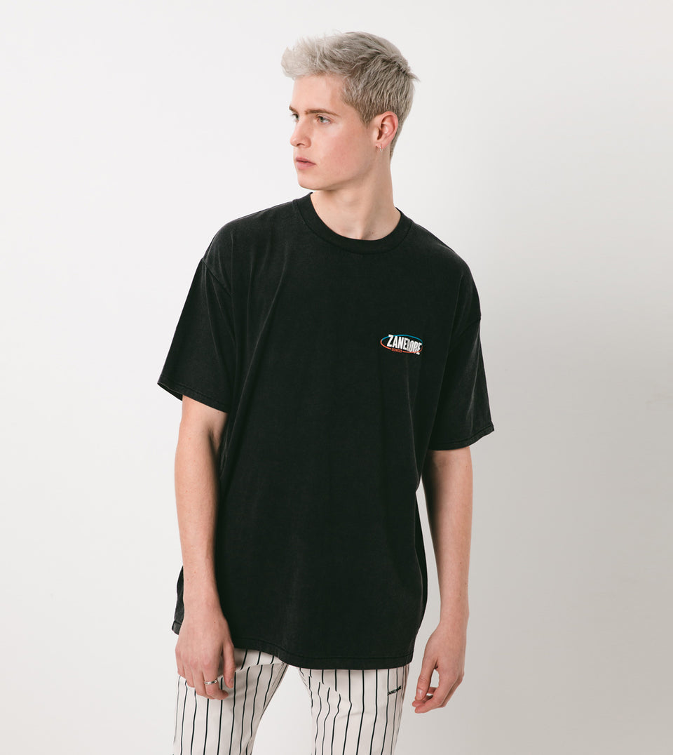Services Box Tee Black Acid