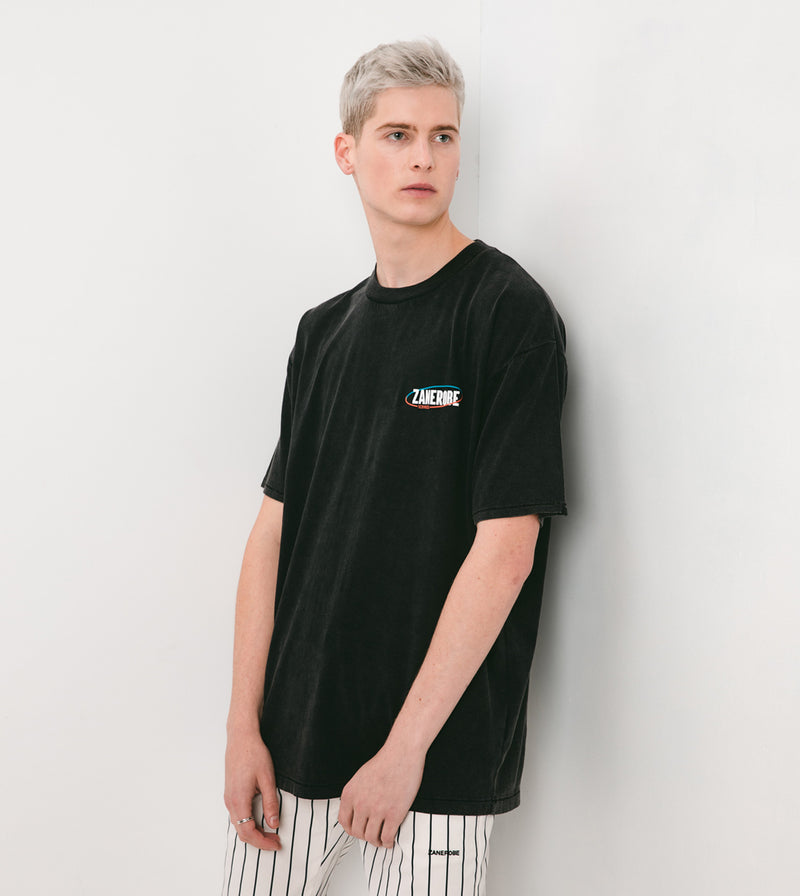 Services Box Tee Black Acid - Sale